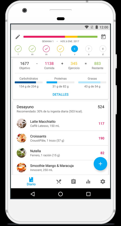 App YAZIO para Android en Google Play