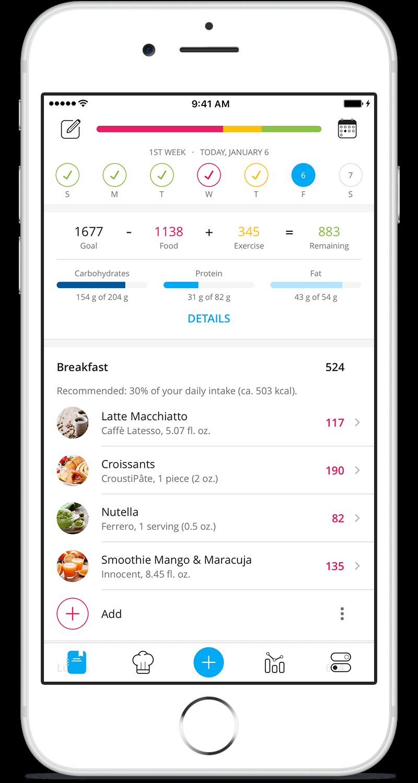 YAZIO Food Diary App