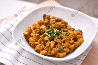 Curry di patate con melanzane