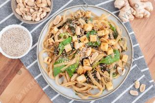 Peanut & Chard Rice Noodles