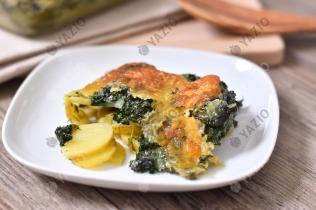 Potato & Spinach Casserole