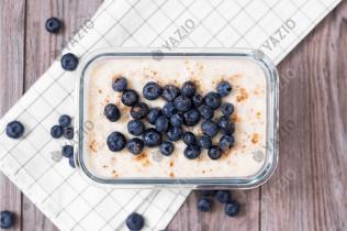 Pudding-Oats mit Blaubeeren