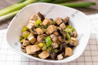 Mushroom & Leek Tofu