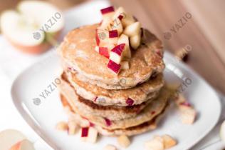 Vegane Apfel-Pancakes