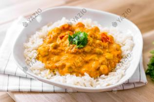 Chickpea Coconut Curry with Rice