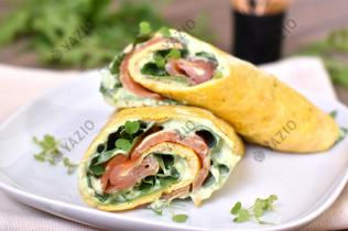 Omelet Wraps with Smoked Salmon