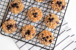 Muffins aux myrtilles pour le petit-déjeuner