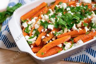 Zanahorias asadas con queso feta