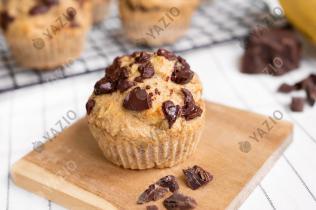 Muffins de plátano con trocitos de chocolate