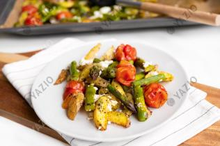 Potato Wedges with Roasted Vegetables