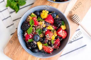 Obstsalat mit Quinoa