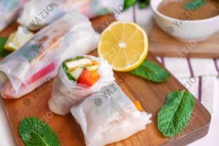 Summer Rolls with Crispy Tofu
