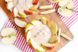 Peanut Butter Yogurt Dip with Apples