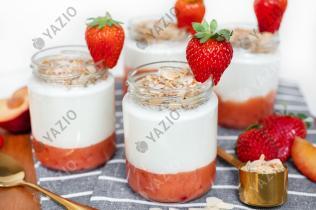 Yogur crujiente de fruta