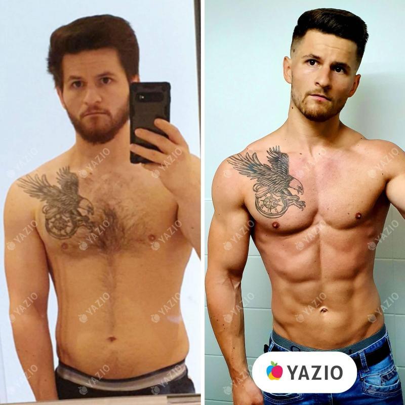 Florian ha perso 7 kg con YAZIO