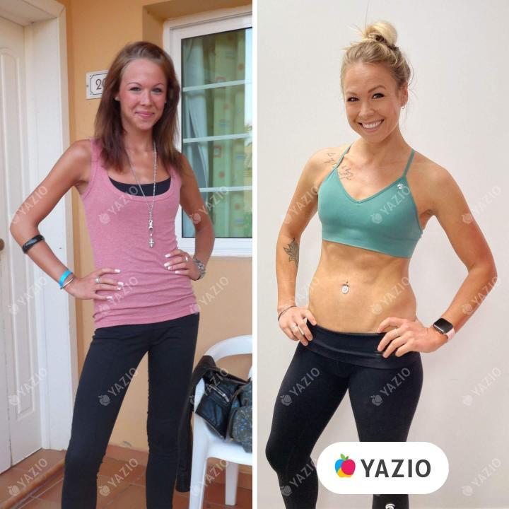Jessy hat 19 kg mit YAZIO zugenommen