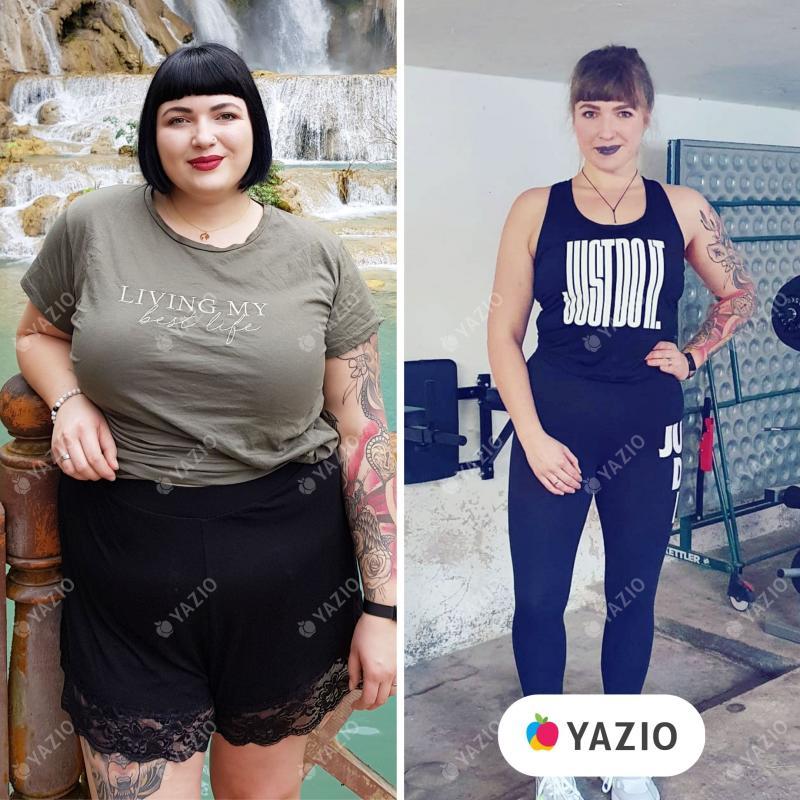 Samantha lost 106 lb with YAZIO