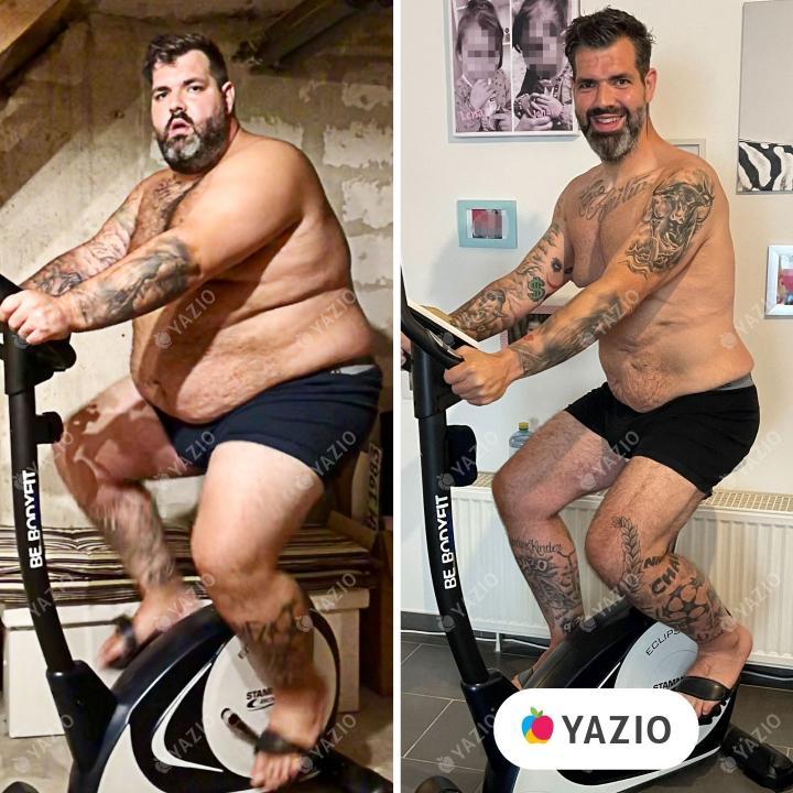 Sascha hat 91 kg mit YAZIO abgenommen