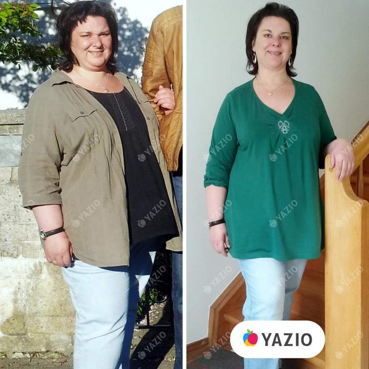 Martina hat 28 kg mit YAZIO abgenommen
