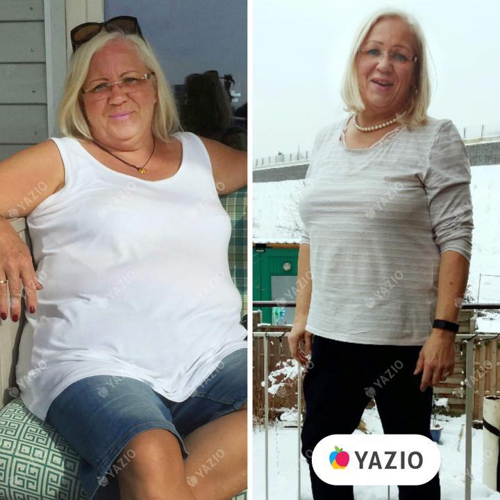 Sabine hat 26 kg mit YAZIO abgenommen