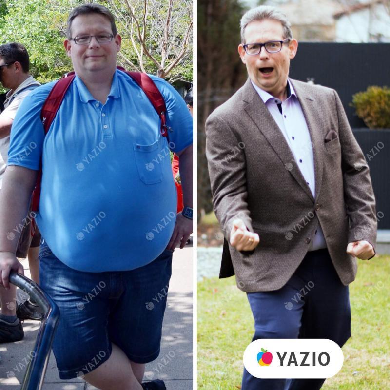 Dietmar adelgazó 65kg con YAZIO