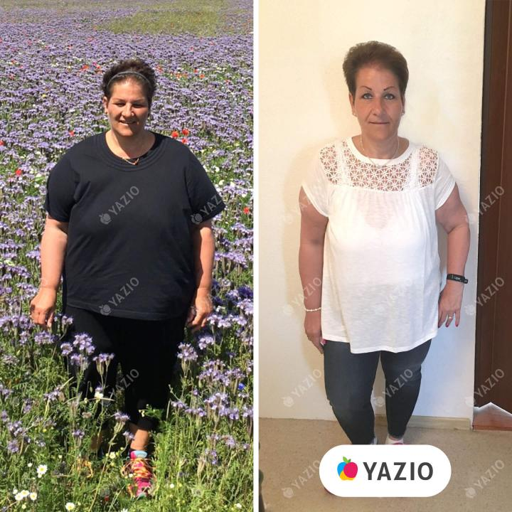 Bettina hat 37 kg mit YAZIO abgenommen