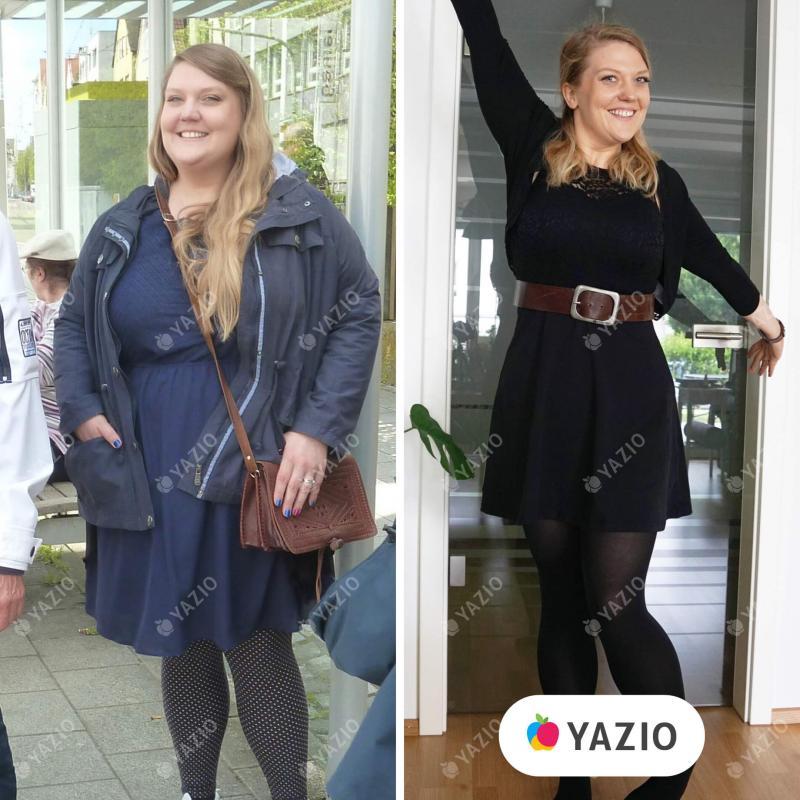 A Lena emagreceu 62 kg com o YAZIO