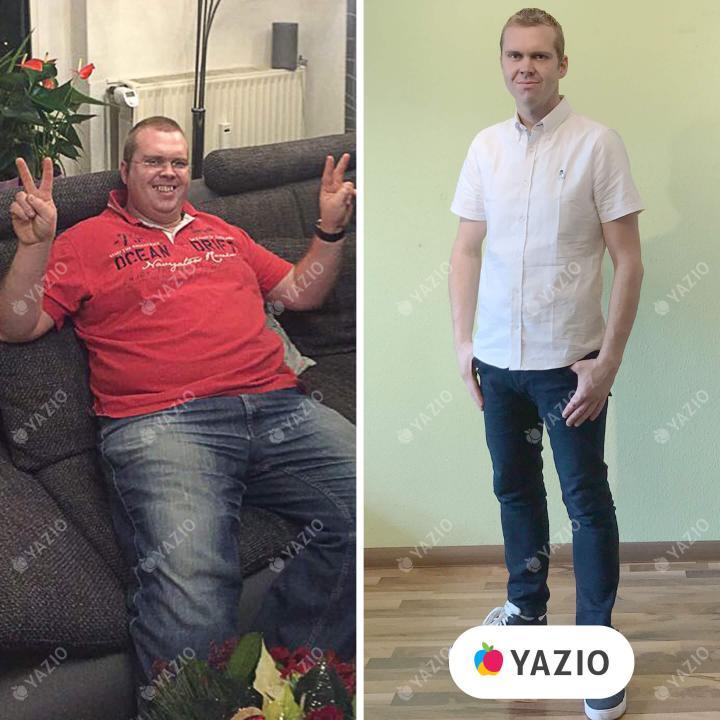 Andreas ha perso 52 kg con YAZIO