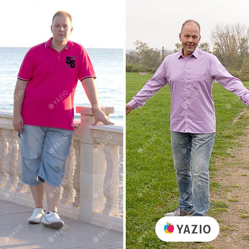 Manuel hat 45 kg mit YAZIO abgenommen
