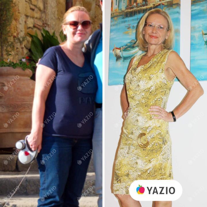 Evelyn hat 21 kg mit YAZIO abgenommen