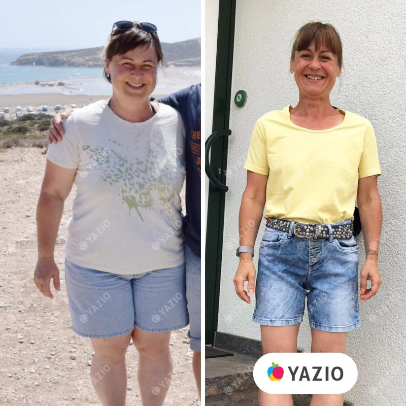 A Silja emagreceu 37 kg com o YAZIO