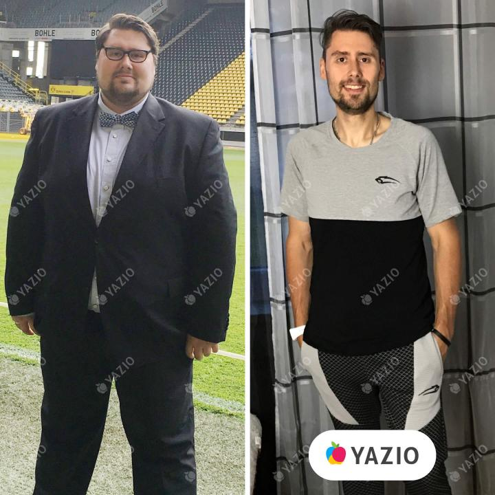 Christoph lost 190 lb with YAZIO