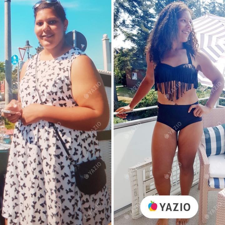 Levina a perdu 57 kg avec YAZIO