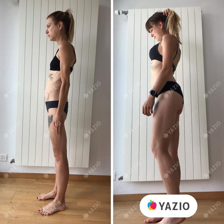 Jennifer gained 37 lb with YAZIO