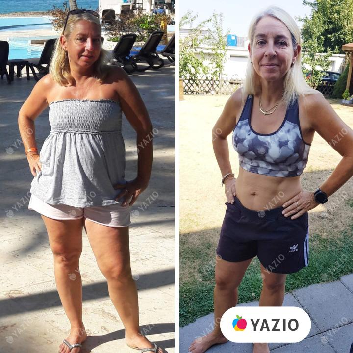 Monika hat 14 kg mit YAZIO abgenommen
