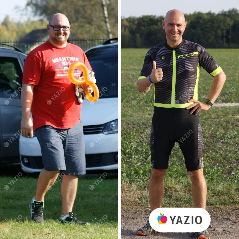 Andreas hat 49 kg mit YAZIO abgenommen
