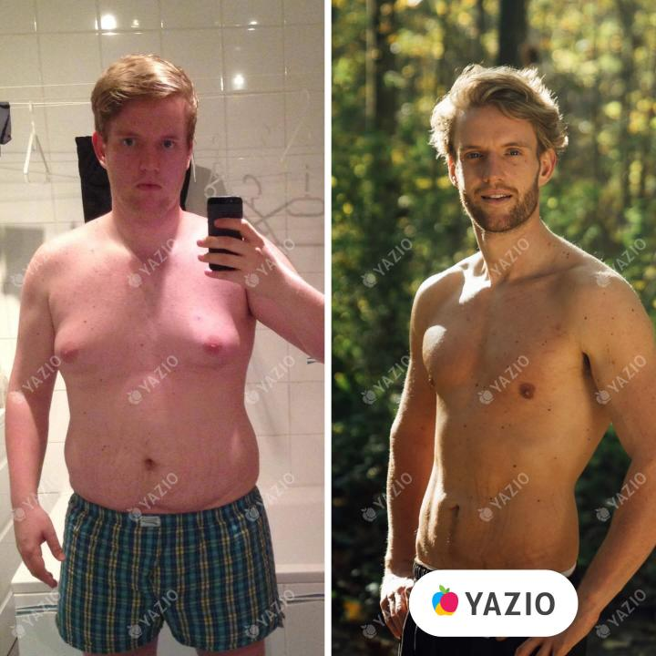 Dennis lost 110 lb with YAZIO
