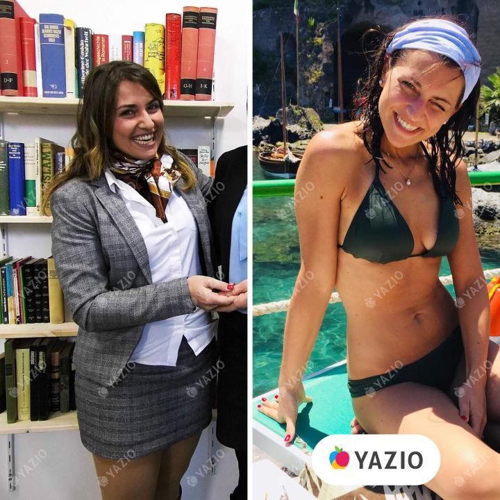 Claudia ha perso 17 kg con YAZIO