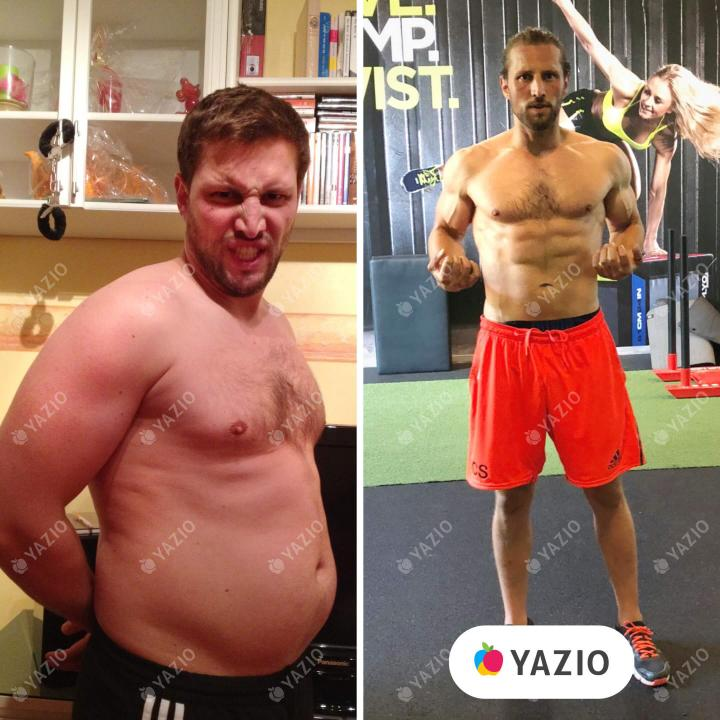 Christopher ha perso 20 kg con YAZIO