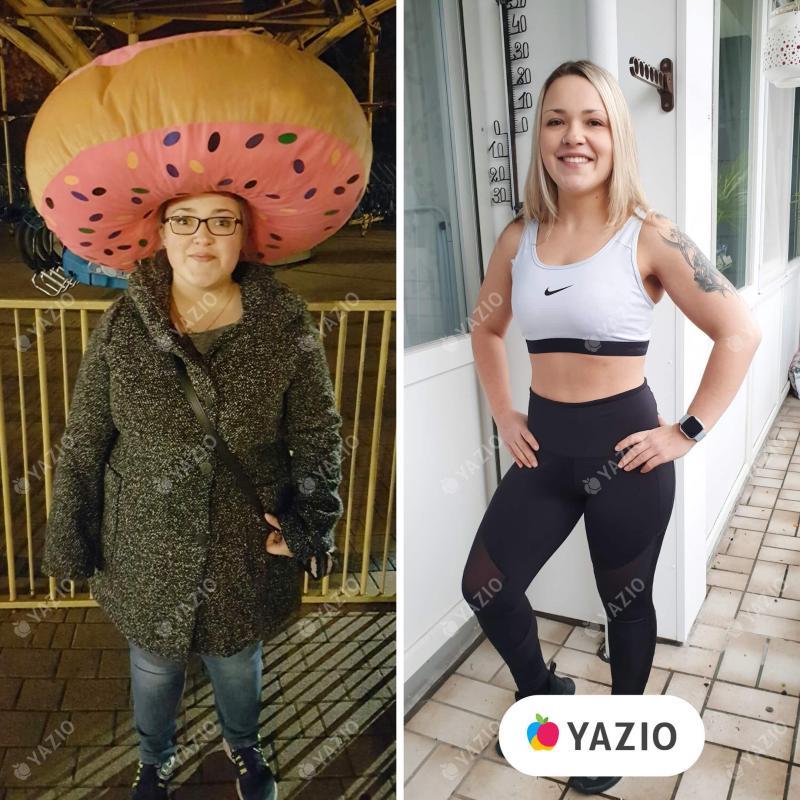 Naiomi ha perso 35 kg con YAZIO