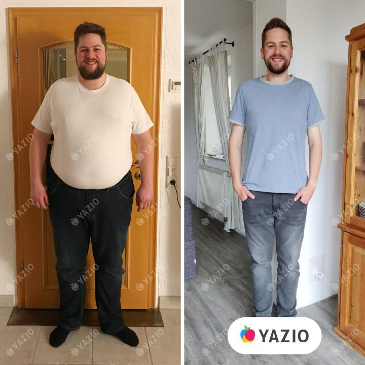 Thomas ha perso 74 kg con YAZIO