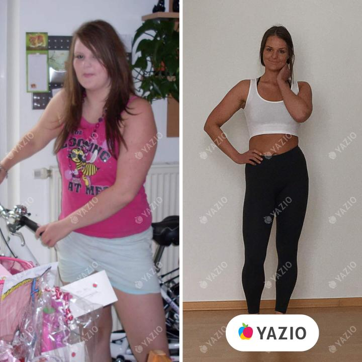 Julia a perdu 15 kg avec YAZIO