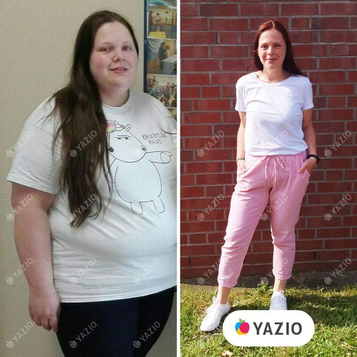 Kim lost 152 lb with YAZIO