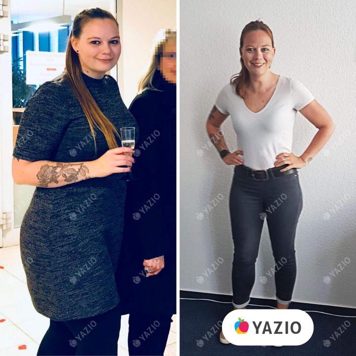 Jacqueline lost 53 lb with YAZIO