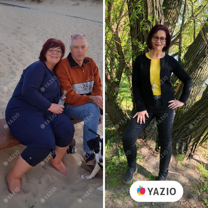 Sabine adelgazó 38kg con YAZIO