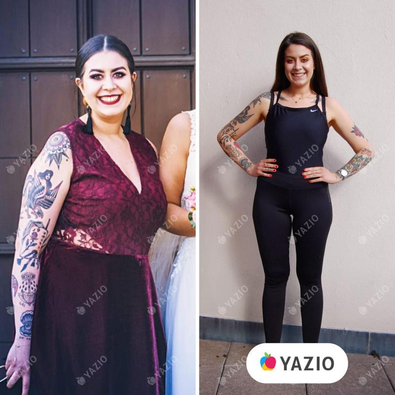 Renata adelgazó 26kg con YAZIO