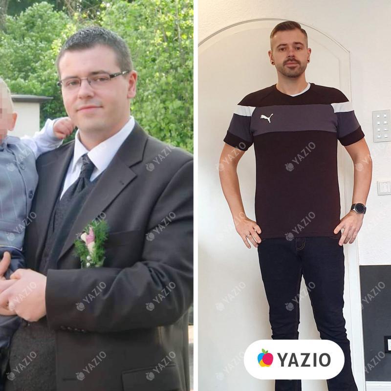 Kai hat 38 kg mit YAZIO abgenommen
