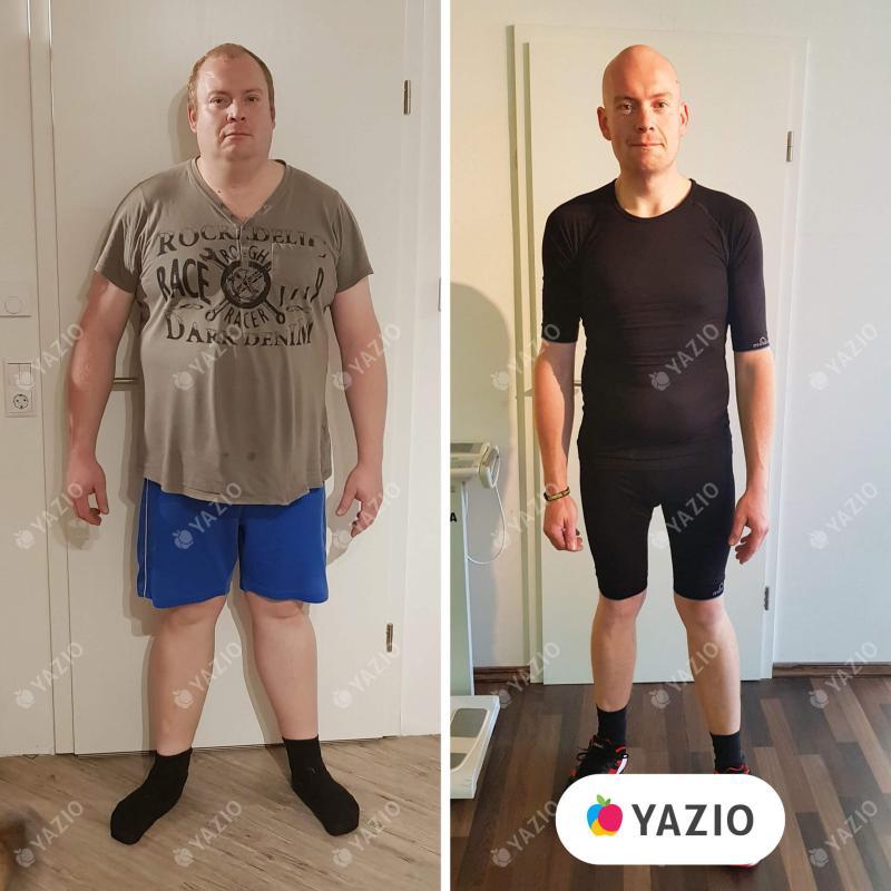 Marcus ha perdido 59 kg con YAZIO