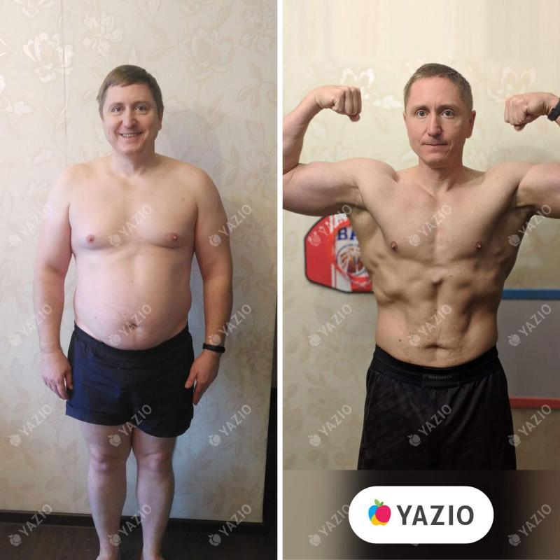 Vitaly a perdu 32 kg avec YAZIO
