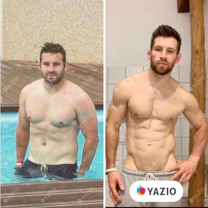 Brice lost 44 lb with YAZIO